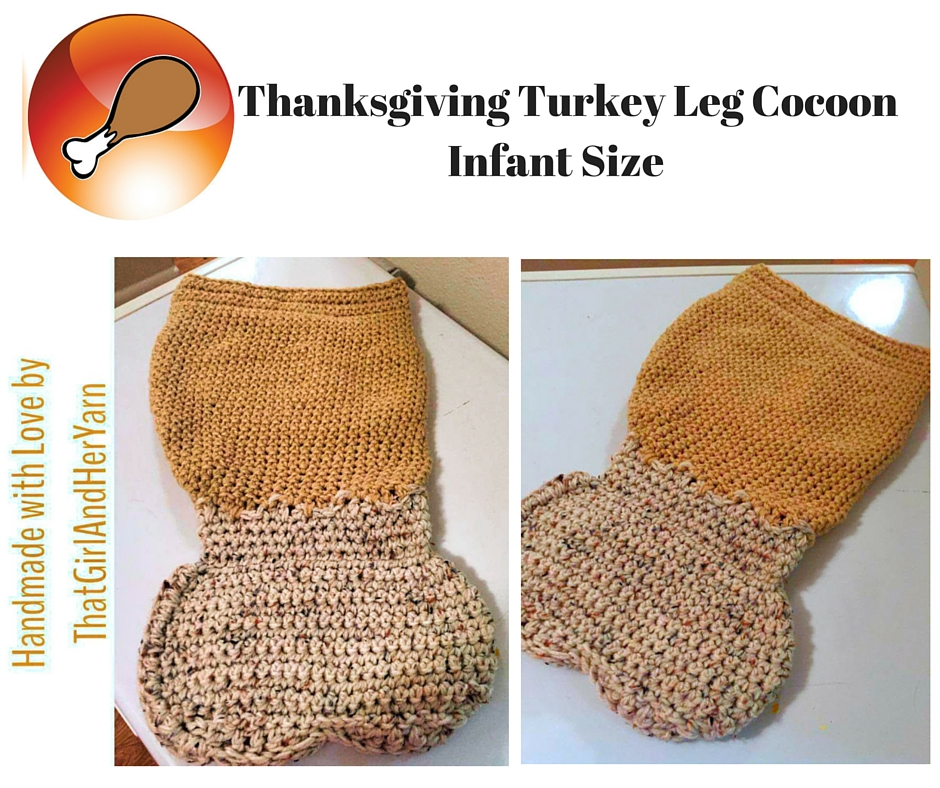 Turkey Day Leg Cocoon Infant Size