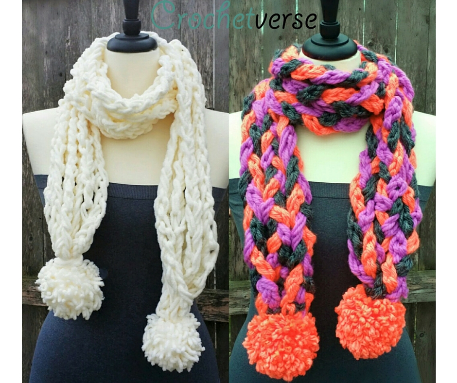 A Twofer Scarf Pattern Learn Finger Crochet Crochetverse