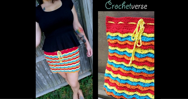 Free Crochet Fireworks Skirt Pattern Cotton Yarn Dye Setting