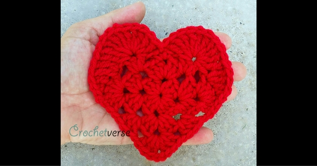 Take Another Little Piece Of My Heart Free Crochet Applique Pattern