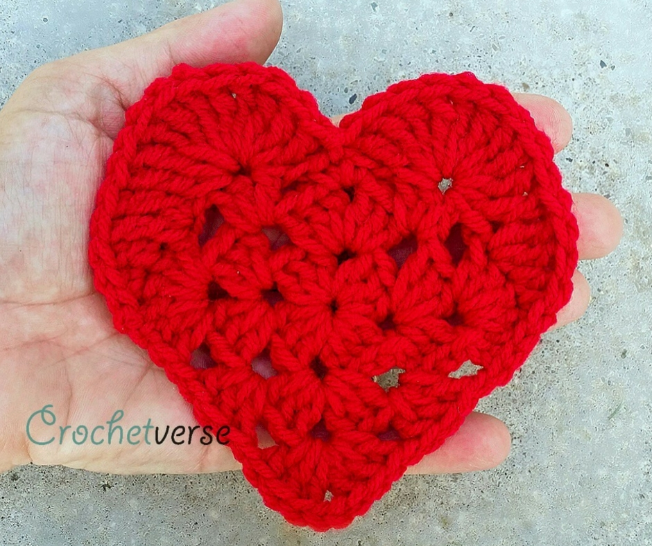 Take Another Little Piece Of My Heart Free Crochet Applique