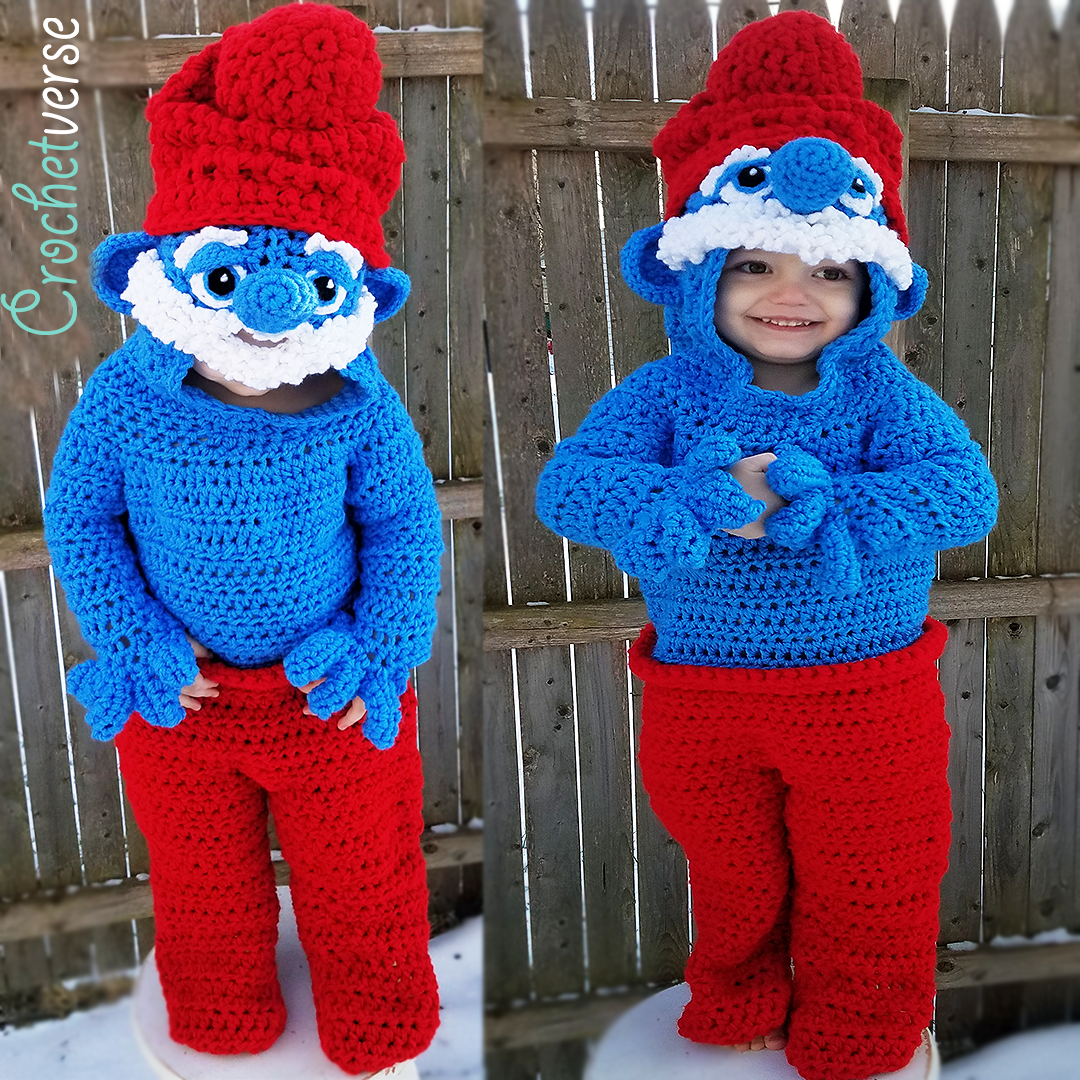 Papa smurf blank canvas onesie customization guide crochetverse this tutorial here is a step by step guide to the customization it will follow though the points to customize the blank canvas onesie into a papa smurf bankloansurffo Image collections