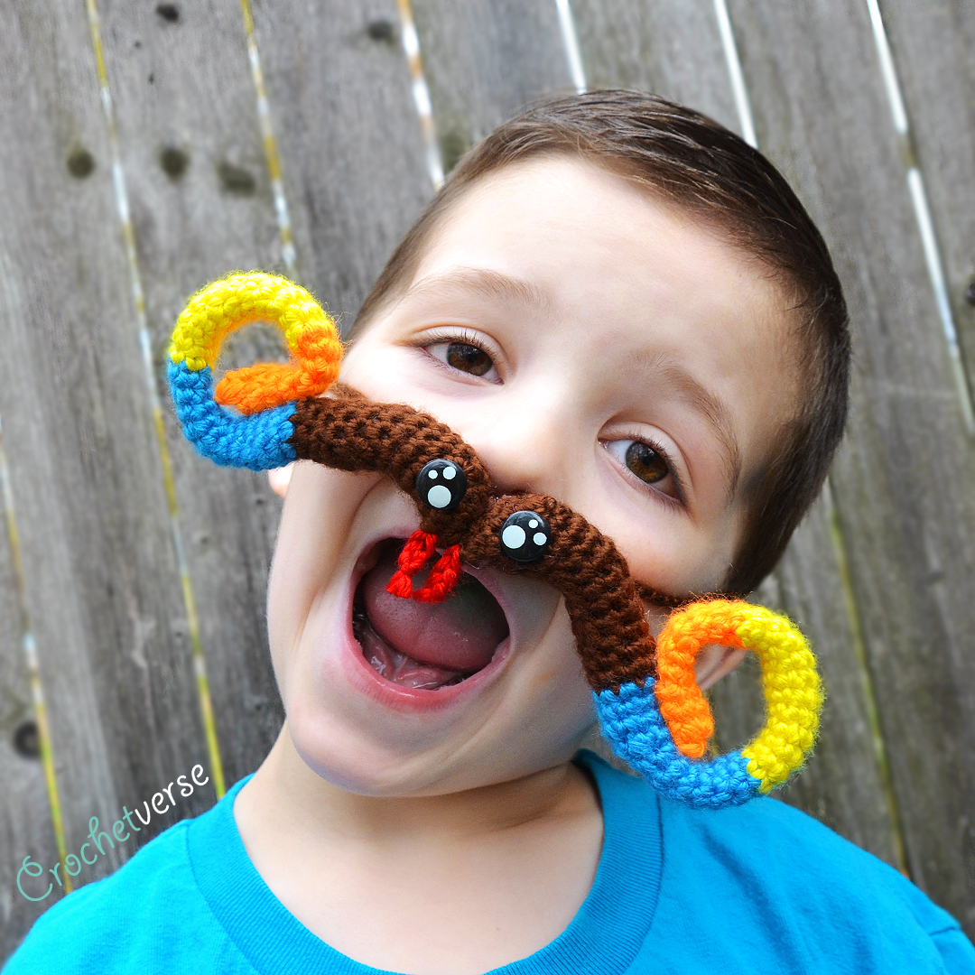 Free crazy mustache crochet pattern crochetverse want to save it to ravelry for safe keeping find that here httpsravelrypatternslibrarycrazy snake mustache bankloansurffo Images