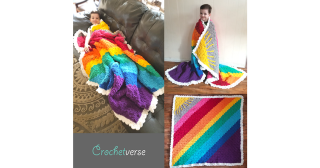 "Sunshine on a Cloudy Day C2C ""Calming Blanket"" Free Crochet"